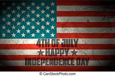 grungy, amerykańska bandera, tło