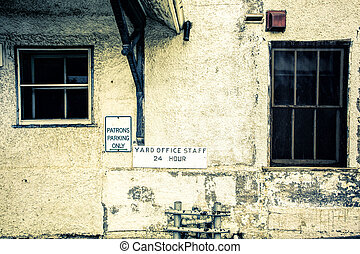 Grungy and decayed building