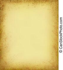 grungy, antik, pergament