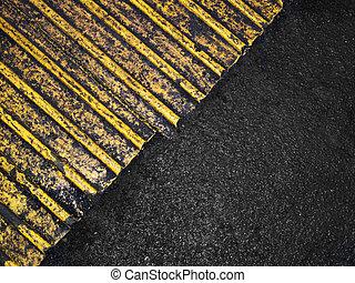 grungy, asfalto, fondo