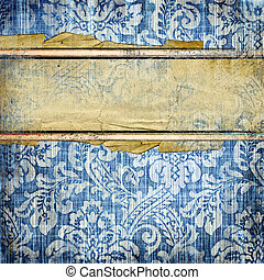 Grungy Background - Grungy Jeans Background With Place For...