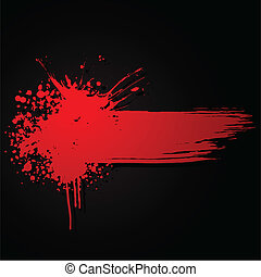 illustration of grungy stain on black background