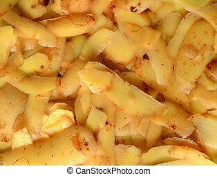 Grungy Background Of Potato Peelings