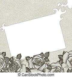 Grungy background with roses