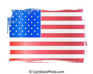 grungy, bandiera americana