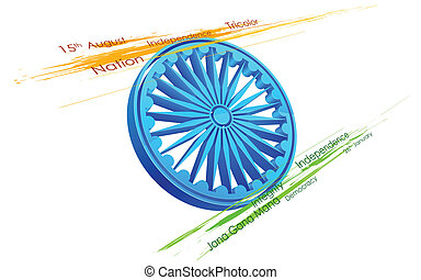 grungy, bandiera, indiano