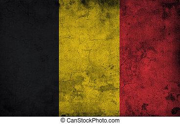 Grungy belgium flag