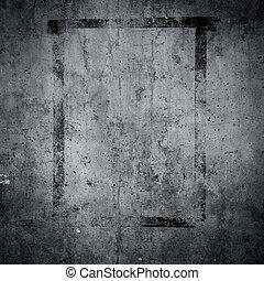 grungy, betongvägg, struktur