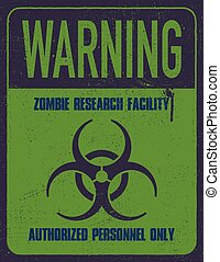 Grungy biohazard symbol