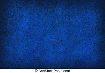 Grungy blue mottled background texture - Grungy dark blue...