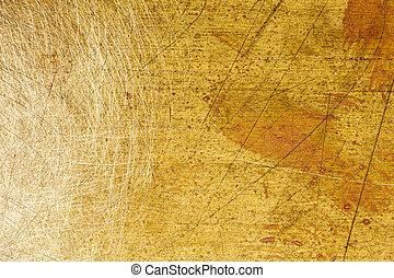 Grungy brass texture