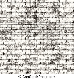 Grungy Brick Wall - A grungy brick wall texture that tiles...