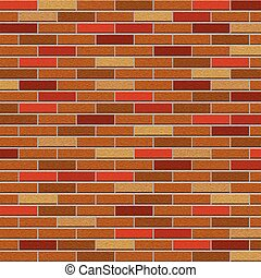 Grungy brick wall brown color background