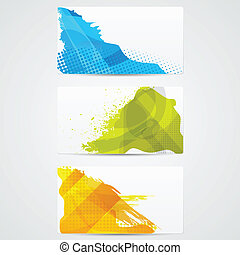 Grungy Card - easy to edit vector illustration of template...