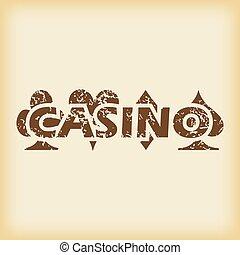 grungy, casino, pictogram