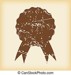 Grungy certificate seal icon