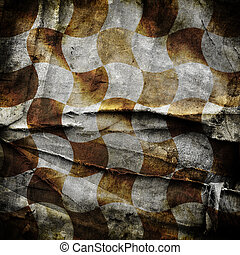 Grungy chessboard background with stains