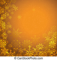illustration of grungy Christmas background with snowflakes