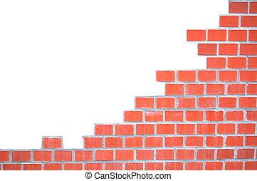 grungy, cihlový stěna, konstrukce