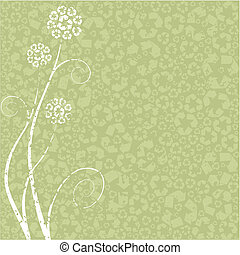 grungy, conceito, flor, reciclagem
