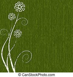 grungy, concetto, fiore, riciclaggio