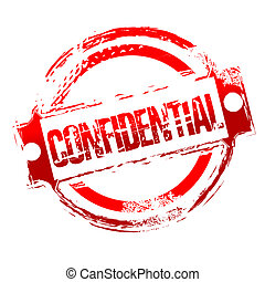 grungy confidential stamp - illustration of grungy...