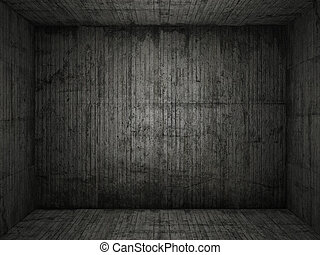 grungy, conrete, kamer, achtergrond