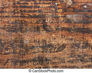 grungy, dřevo, vynořit se