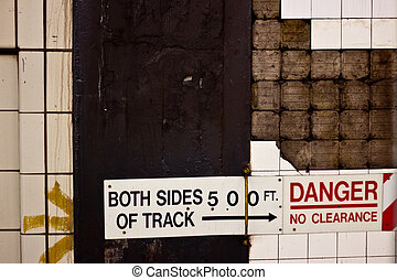 Grungy Danger Wall