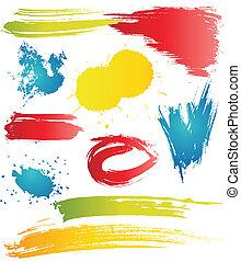 Grungy design elements
