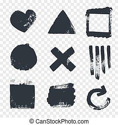 Grungy design elements.
