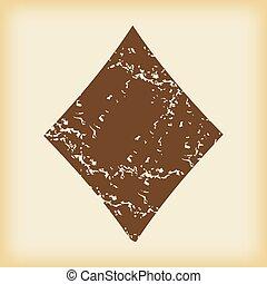 Grungy diamonds icon