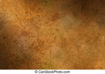 Grungy distressed rusty surface lit diagonally