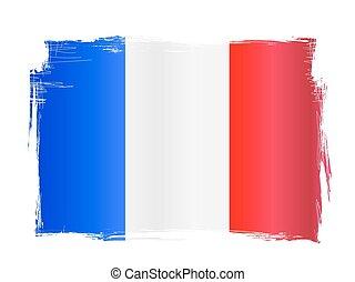 grungy, drapeau français