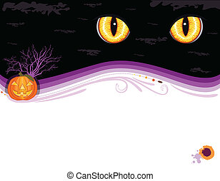 grungy, fête, halloween, carte, invitation
