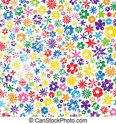 grungy, fleur, coloré, fond