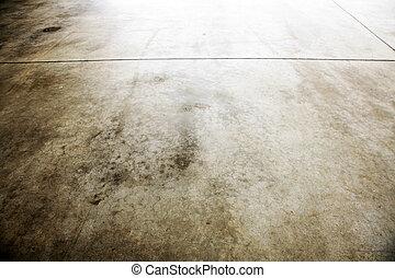 Grungy floor - Closeup of brown grungy floor