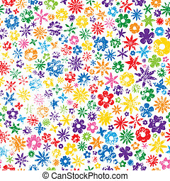 grungy, flor, coloridos, fundo