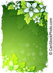 Grungy Floral Background