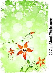 Grungy Flower Background