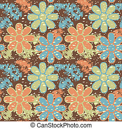 Grungy Flower Pattern