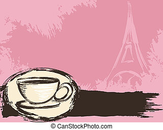 Grungy French coffee background - Grungy parisian coffee ...