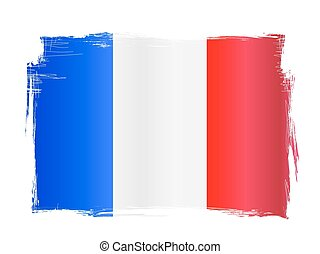 Grungy French Flag