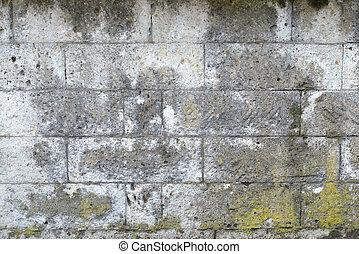 grungy, graue , steinmauer, beschaffenheit