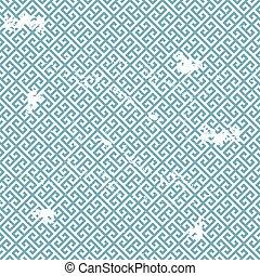 grungy greek pattern