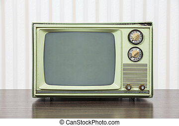 Grungy Green Vintage Television