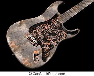 grungy, guitare, punk, vapeur