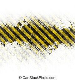Grungy Hazard Stripes - A hazard stripes background with ...