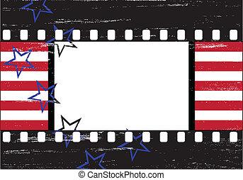 grungy, hollywood, frame