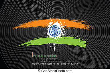 Grungy India Background in tricolor
